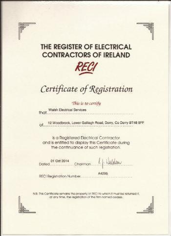 RECI Certificate of Registration A4295
